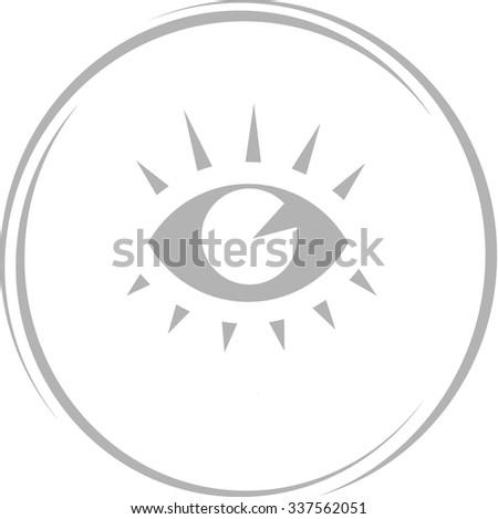 eye. Internet button. Vector icon. - stock vector