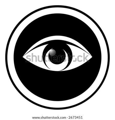 eye. isolated. - stock vector