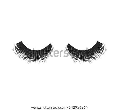 eye lashes vector icon lashes vector stock vector 542956264