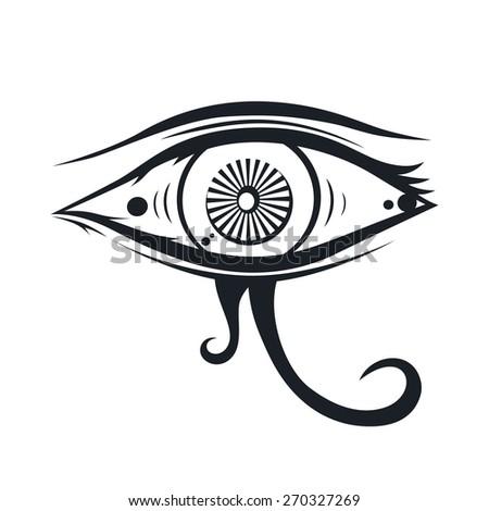 eye of horus - stock vector