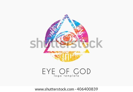 Eye of Providence. pyramid. All Seeing Eye Of God. Symbol Omniscience - stock vector
