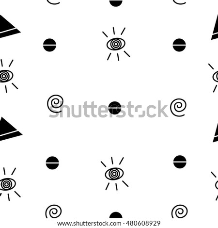 Eye pattern with geometric designs