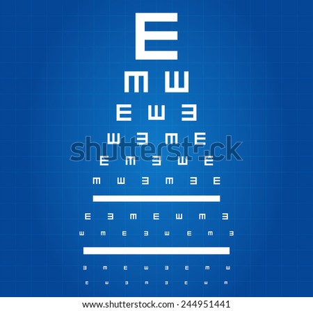 Eye Sight Test Chart Blueprint