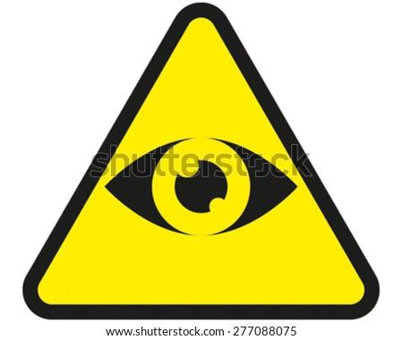 Eye Sign - stock vector