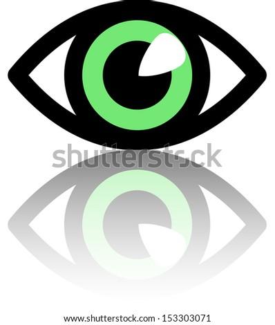 Eye symbol. Vector Illustration. - stock vector