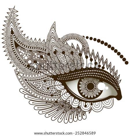 Eye, vector illustration - stock vector