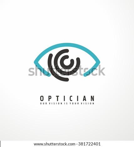 M Rank Eye Vector Logo Design Idea