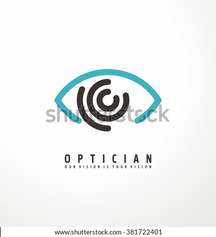 Eye vector logo design idea. Minimalistic logo design layout for medical care. Optician creative symbol concept template.  Eye icon. Eye Care. Health Care. Ophthalmology flat lines icon design. - stock vector