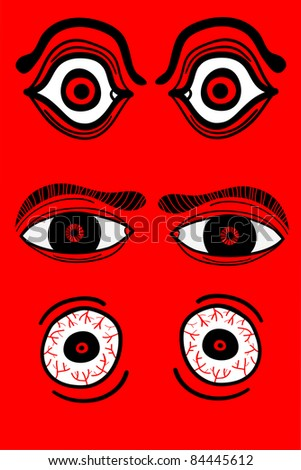 eyeball set - stock vector