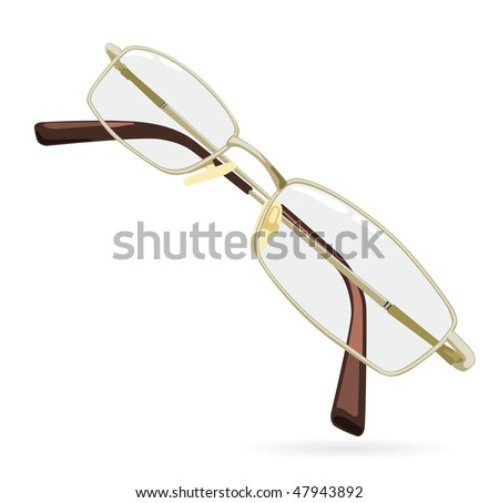 Eyeglass. Vector illustration isolated on white background. - stock vector