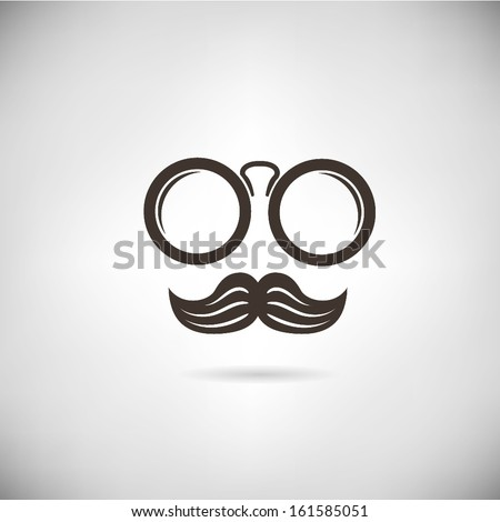 eyeglasses and mustaches - stock vector