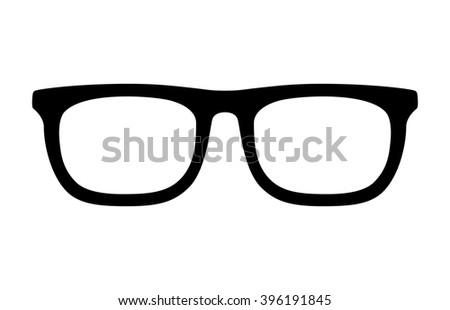 Eyeglasses / eye glasses flat icon for app and website - stock vector