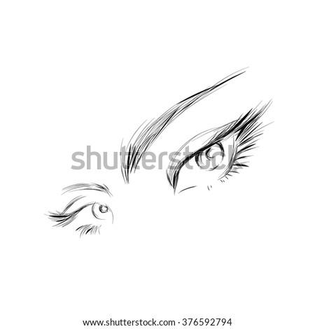how to draw on eyelashes
