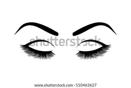 eyelashes vector illustration stock vector 510463627 - shutterstock