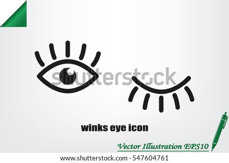 eyes and eyelashes icon vector illustration eps10. Isolated badge for website or app - stock infographics