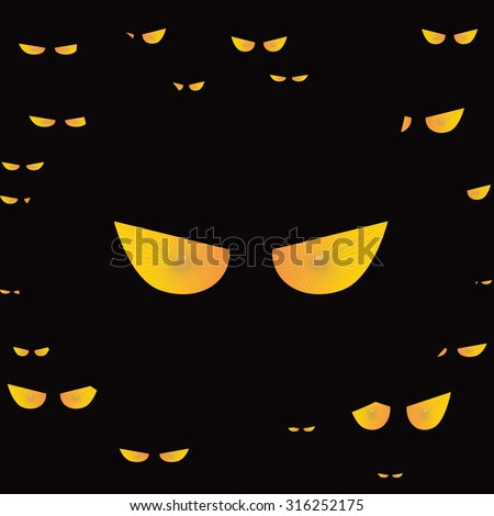 eyes cat halloween icon. Vector Design EPS10. - stock vector