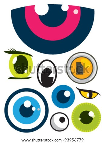 eyes collection - stock vector