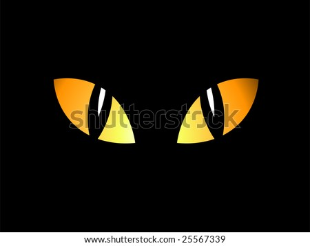 Eyes in the night - stock vector