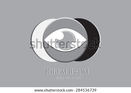 Eyes Logo, Luxury eye logo on monochrome tone black, white and grey color. A modern design for your business . - stock vector