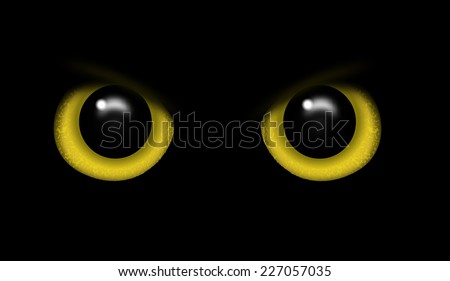 Eyes of a wild animal in the darkness vector - stock vector