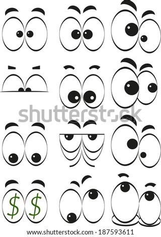 Eyes,set. - stock vector