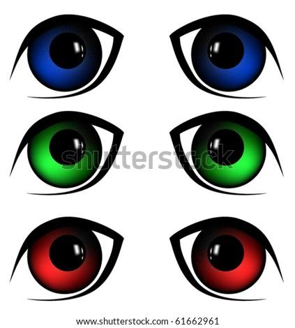 eyes vector illustration - stock vector