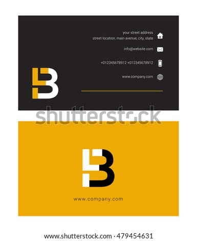 F B Letter Logo Symbol Business Stock Vector Hd Royalty Free