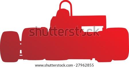 F1 Car - stock vector