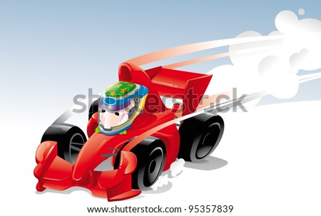 F1 formula automobile  racing car the world's fastest - stock vector