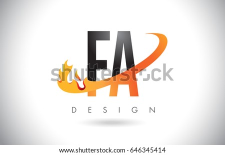Fa f letter logo design fire stock vector hd royalty free fa f a letter logo design with fire flames and orange swoosh vector illustration thecheapjerseys Image collections