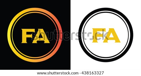 Fa letters icon design template elements stock vector hd royalty fa letters icon design template elements in abstract background logo design identity in circle thecheapjerseys Image collections