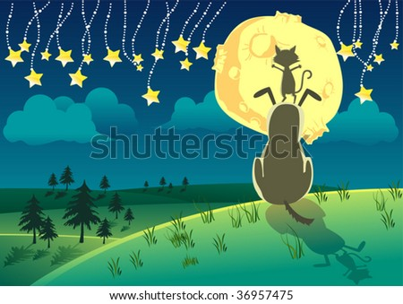 fable night - stock vector