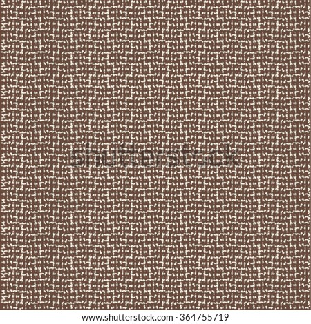 Fabric texture background. Geometric pattern. Brown and white. Abstract vector.
