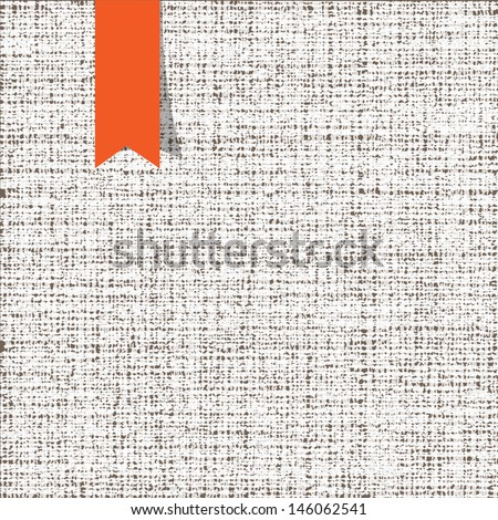 Fabric texture. Vector background - stock vector