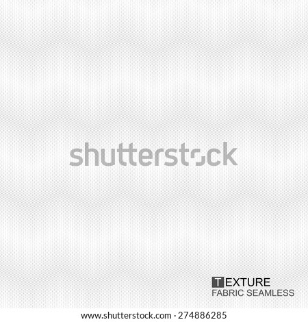 Fabric texture - vector seamless background, White and grey wavy texture - stock vector