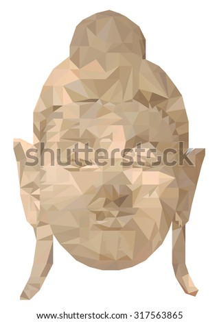 Face buddha polygon