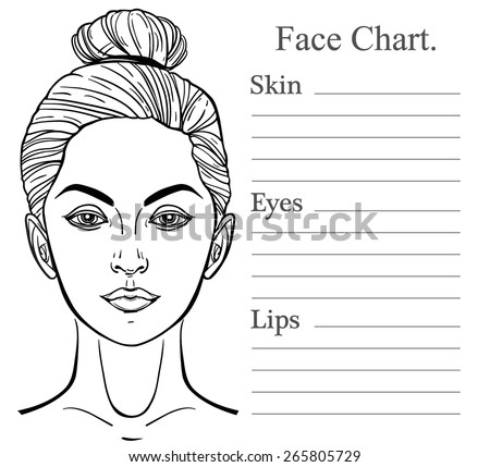 Beautiful Woman One Eye Closed Face Stock Vector