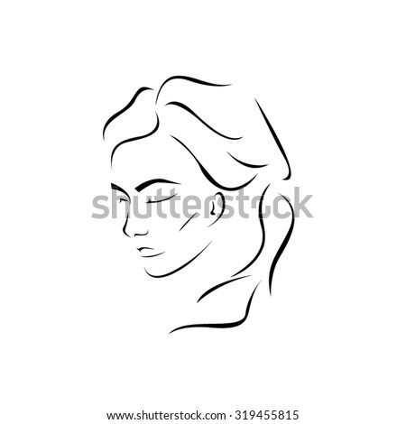 Face Close-Up of a Depressed Woman. Sad Expression. - stock vector