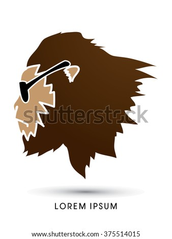 Face Gorilla with graphic vector