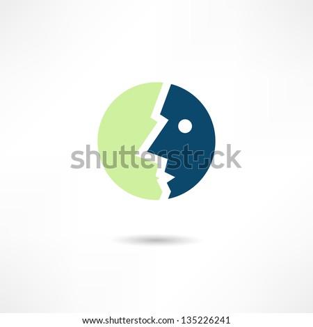 face icon - stock vector