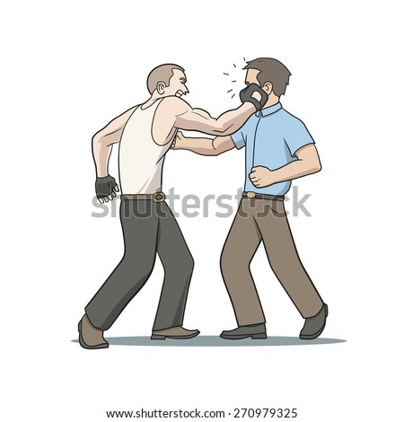 face punch - stock vector