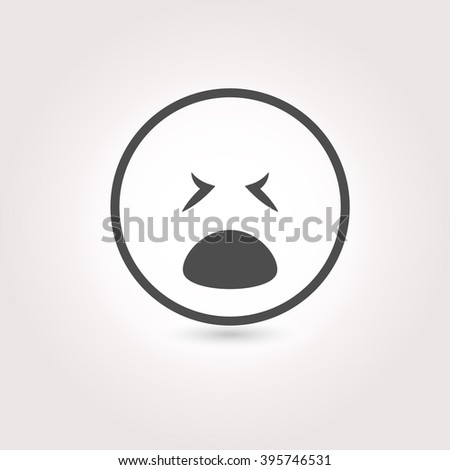 Face sign emotion smile icon. Vector illustration. - stock vector