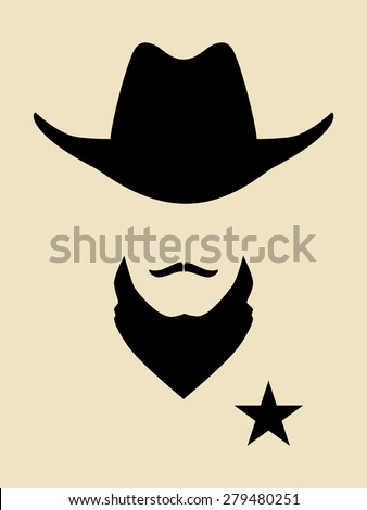 Face symbol of a sheriff - stock vector