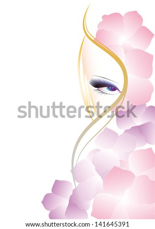 face woman - stock vector