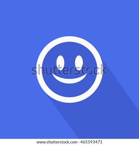 Facebook Smile Emoji Icon Vector Head Stock Vector 465593471