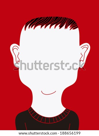 Faceless man - stock vector