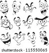 facial expression comic cartoon style - stock photo