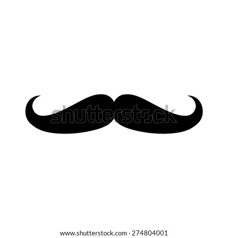 Facial hair mustache (moustache) flat icon for apps and websites