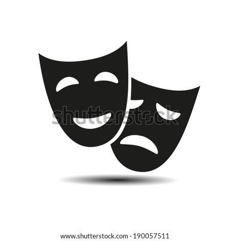 facial mask symbol - stock vector