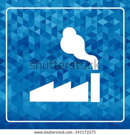 factory icon. vector illustration - stock vector
